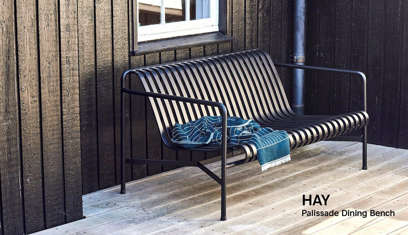 Hay Palissade Dining Bench In Anthracite Hay Palissade
