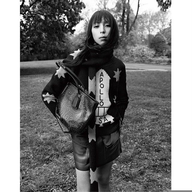 LAICALE client Issa Lish for Coach Fall 2014, photographed by #StevenMeisel in NYC, cut by LAICALE artist Faisal Dwiaryanto