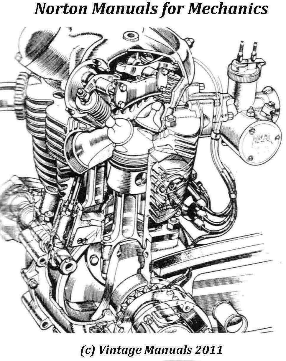 Norton Service Manuals For Mechanics Norton Dominator Norton Mechanic