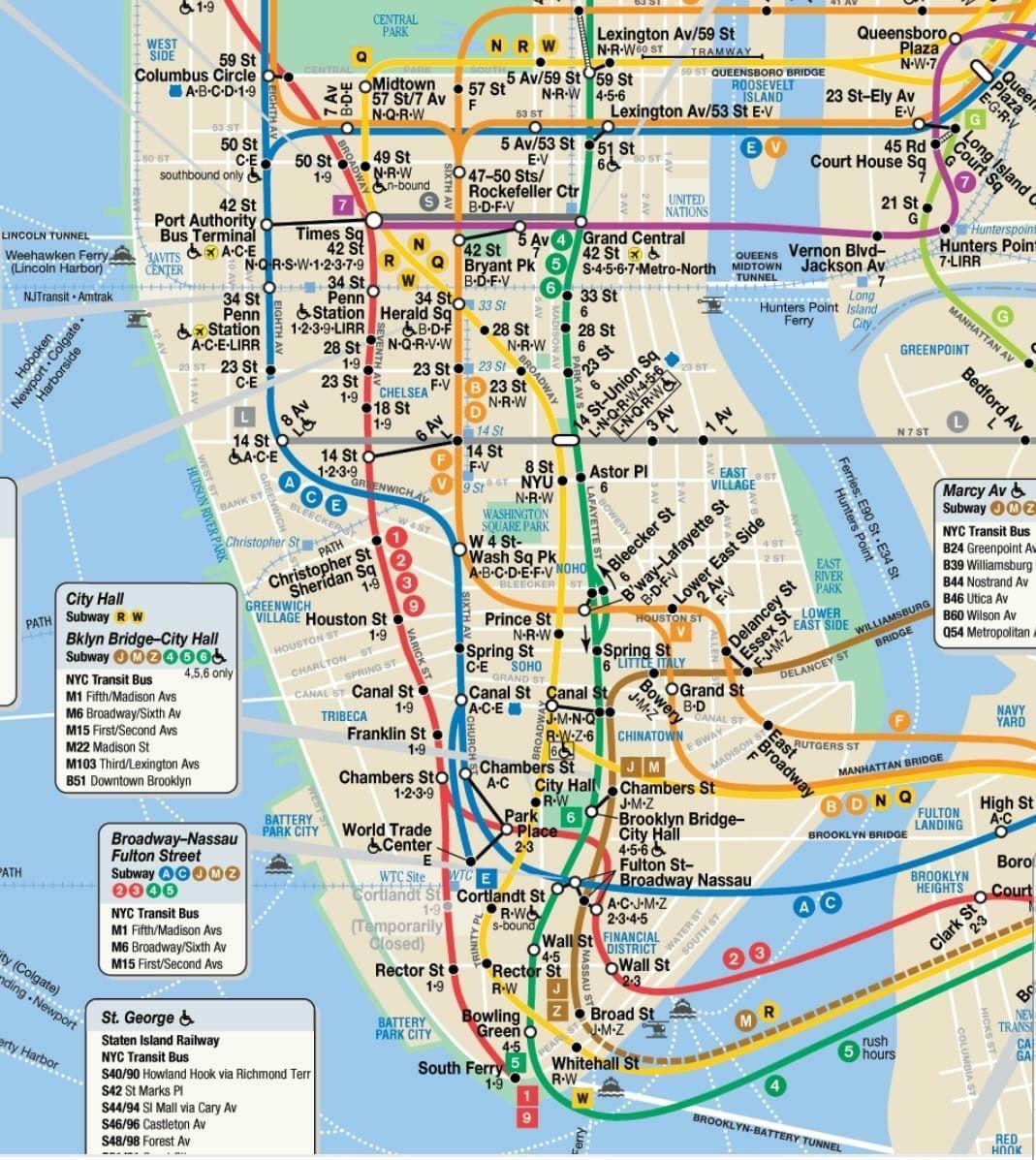 Plano Metro Nyc Travel Trip Viajes Viajar Escapadas Metro