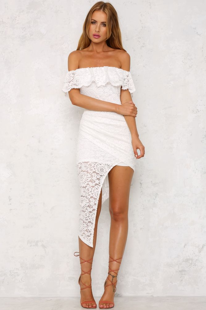 HelloMolly   Instant Attraction Maxi Dress White - Dresses ...