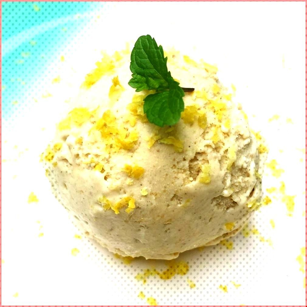Roasted Lemon Ice Cream - - Roasted Lemon Ice Cream - -