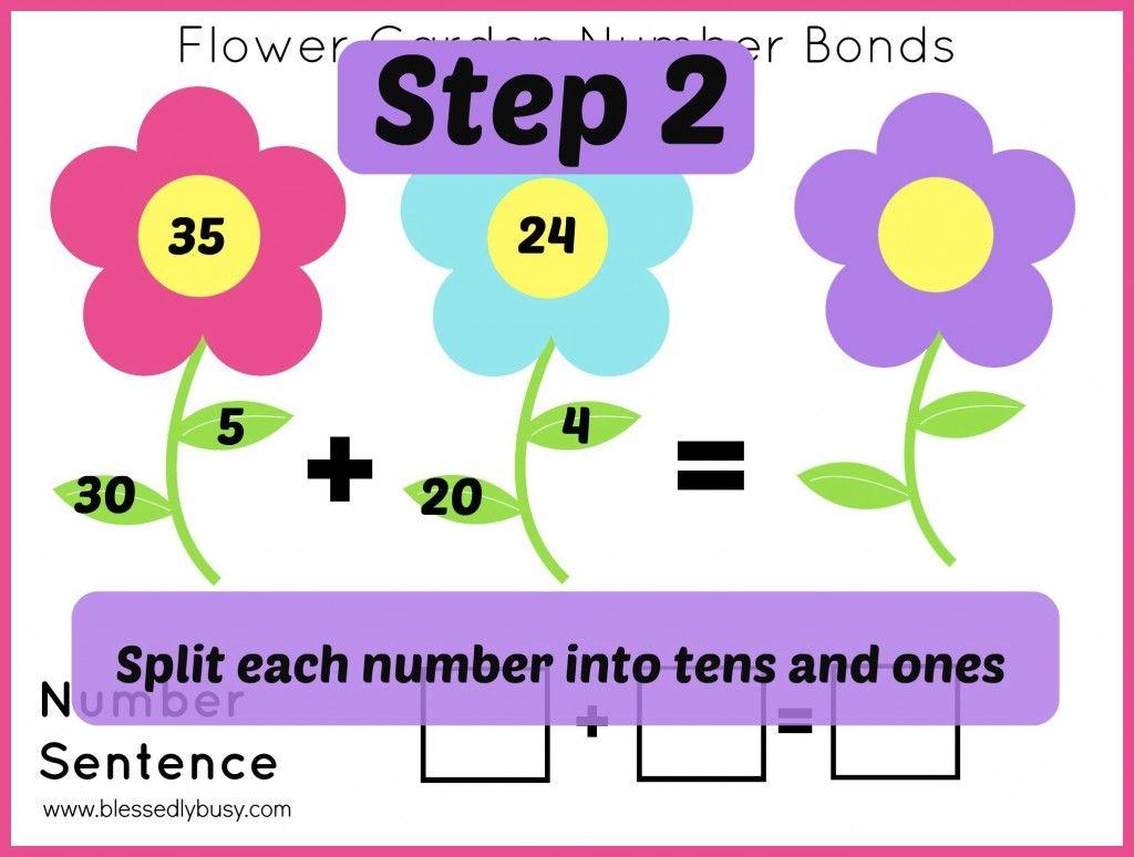 Flower Garden Number Bond Mats Addition