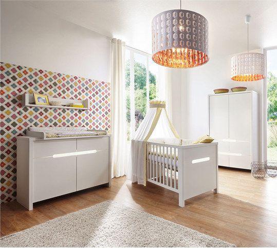 verspielte wohlf hl oase schardt kinderzimmer poppy white mit 2 t rigem schrank babyzimmer. Black Bedroom Furniture Sets. Home Design Ideas