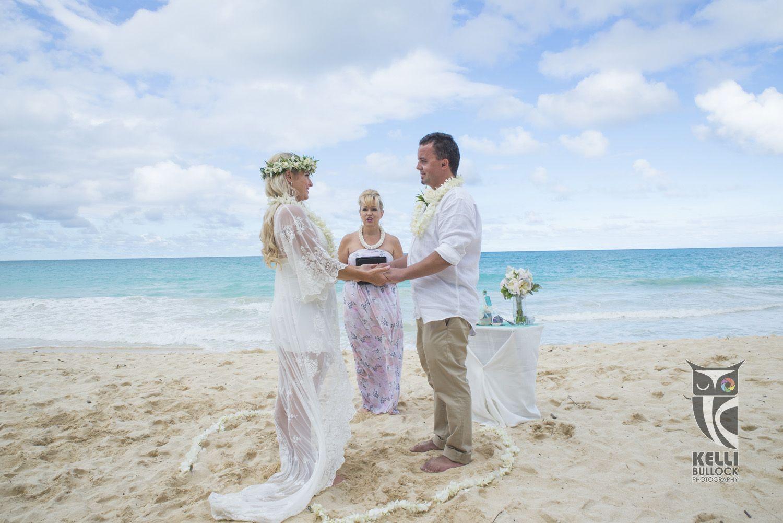 lovely intimate ceremony on waiamanlo beach oahu hawaii hawaii wedding photography hawaii wedding