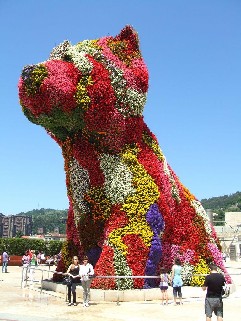 Jeff Koons Puppy Guggenheim museum bilbao, Jeff koons