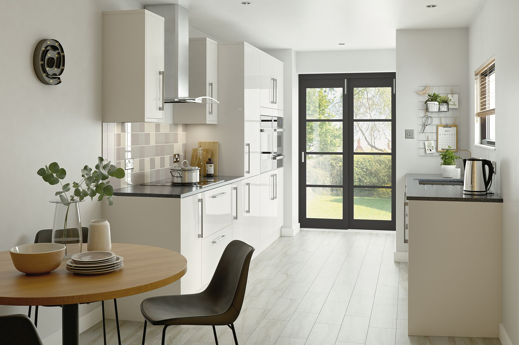 this soft shimmered shade of kitchen from the kitchen range at homebase is fresh timeless and on kaboodle kitchen microwave id=76379