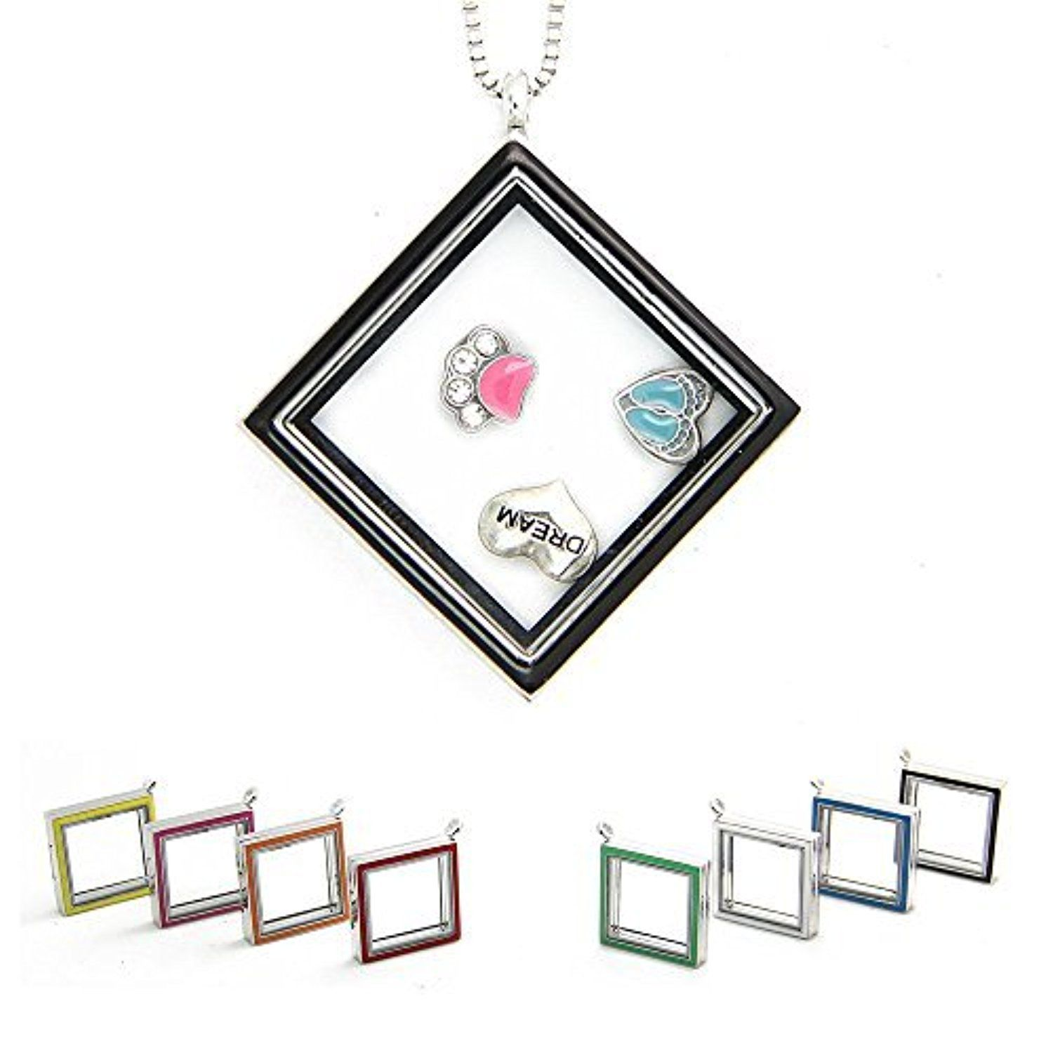 isabelle diamond sterling locket silver garnet birthstone square oval lockets