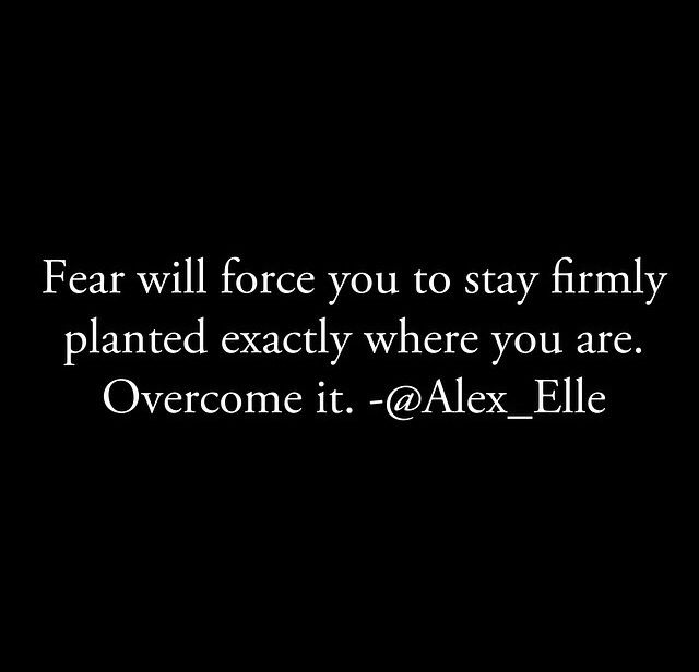 Overcome it.