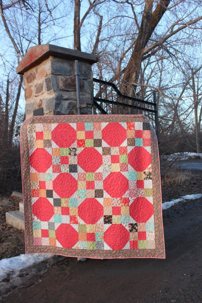 Traditional Quilt for Sale, Coral Red Background, Floral and Fruit ... : traditional quilts for sale - Adamdwight.com