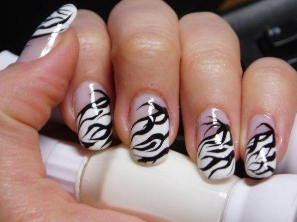 Love The Zebra Nail It Pinterest Nail Salon Design Zebra