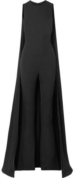 3732ae63d0d TOM FORD - Cape-effect Silk-georgette Jumpsuit - Black. TOM FORD s jumpsuit  resembles a formal gown - it has a floor-sweeping cape overlay that  gracefully ...