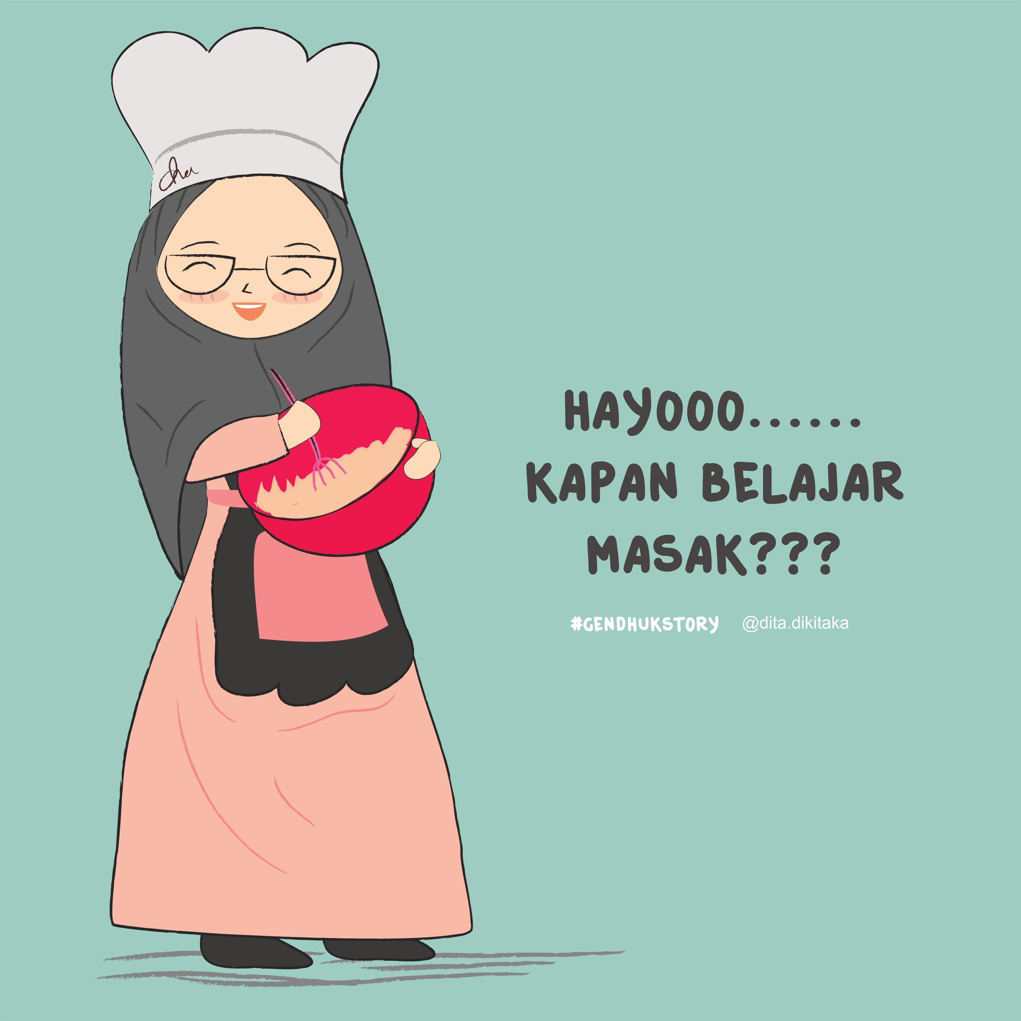 Galeri Gambar Kartun Muslimah Menunggu Jodoh Seribu Animasi