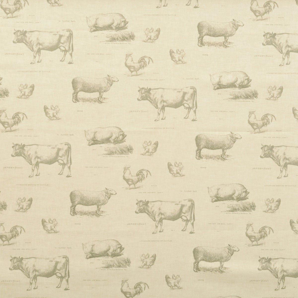 Farmyard Curtain Fabric