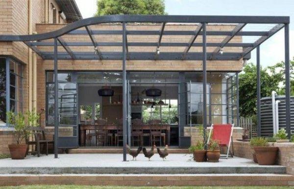 Pergola aus Metall - 40 inspirierende Beispiele und Ideen - 28 ideen fur terrassengestaltung dach