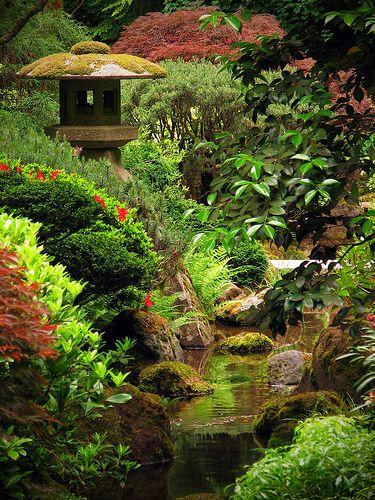 garden pond Ponds Pinterest Japan garten, Vorgärten und - gartenarchitektur