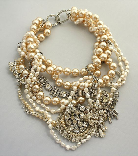 pearls & rhinestones. by {this is glamorous}, via Flickr