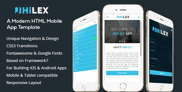 Jhilex - Mobile \ App HTML Template Mobile app, Template and App - free resume builder app for android