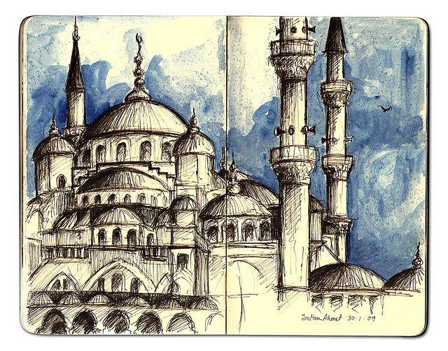 Sultan Ahmet Camii Mimari Cizim Taslaklari Resimler Ve Sultan