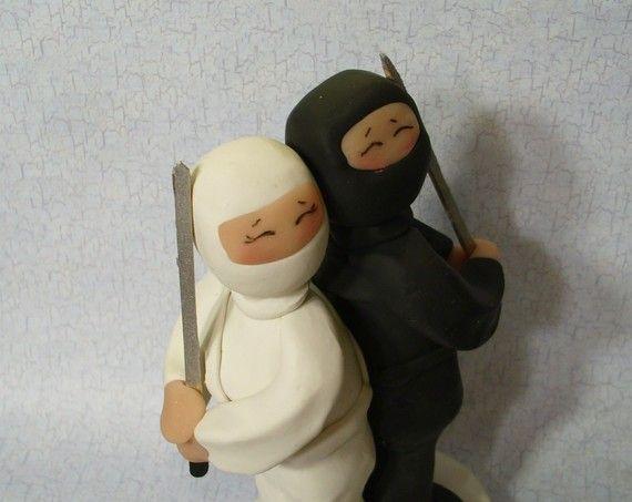 Ninja Wedding Cake Topper I Love It