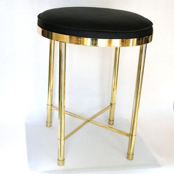 hollywood glamour style vanities vintage vanity seat brass hollywood regency glam boudoir chair