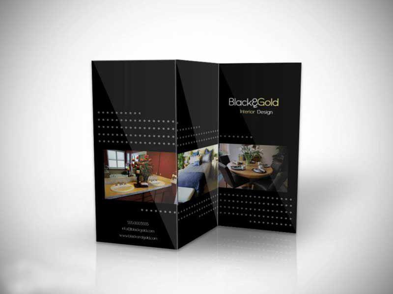 black brochure design