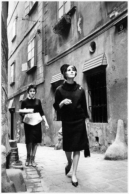 La Rinascente stores, Vienna 1961  photo by Jeanloup Sieff  by dovima is devine II, via Flickr