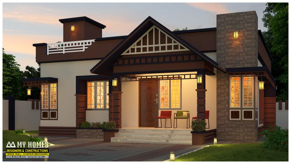 2 Bedroom Home For 14 Lakhs Low Budget Kerala Home Designs House Plans Between 750 And 850 Squ Kerala House Design Small House Elevation Design Kerala Houses