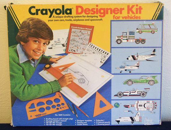 crayola designer kit w manual steps detailing how to draw cars