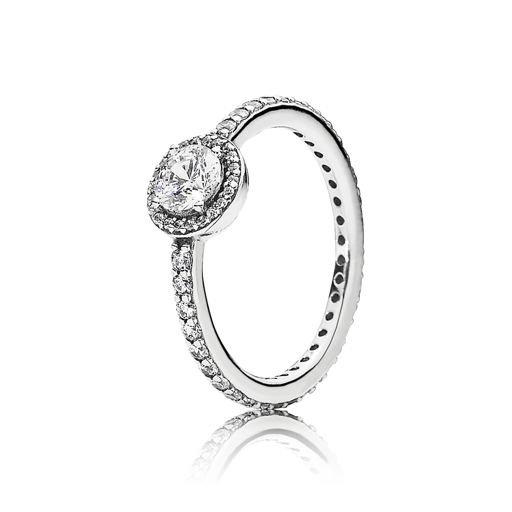 anillo copo cristalino pandora