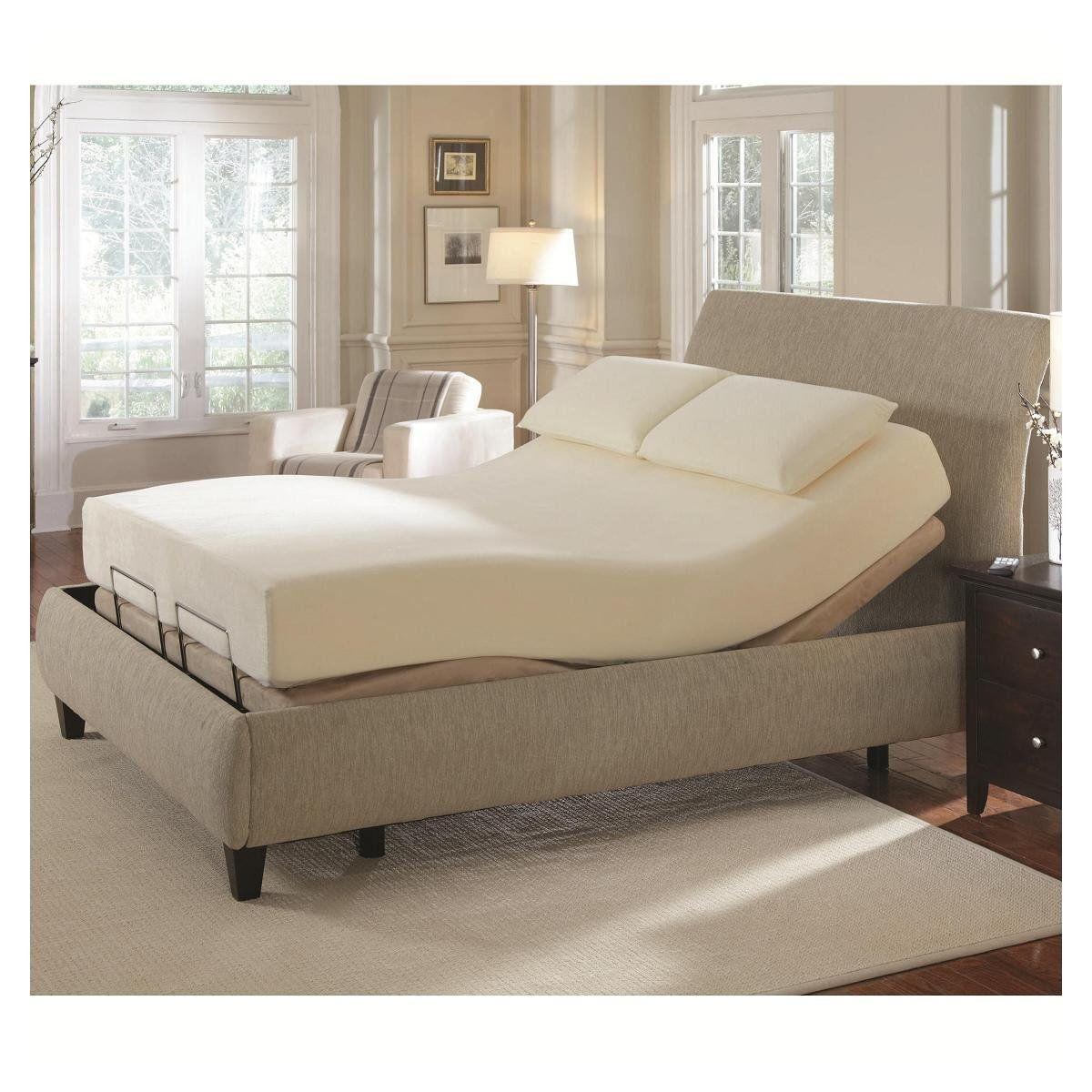 Adjustable Beds Electric California King Long Adjustable Massage Bed Em217899 Emporium
