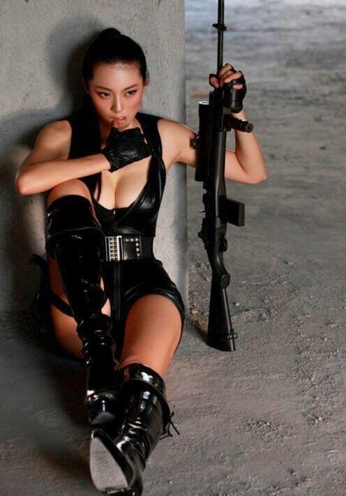 Asian girls with guns photos