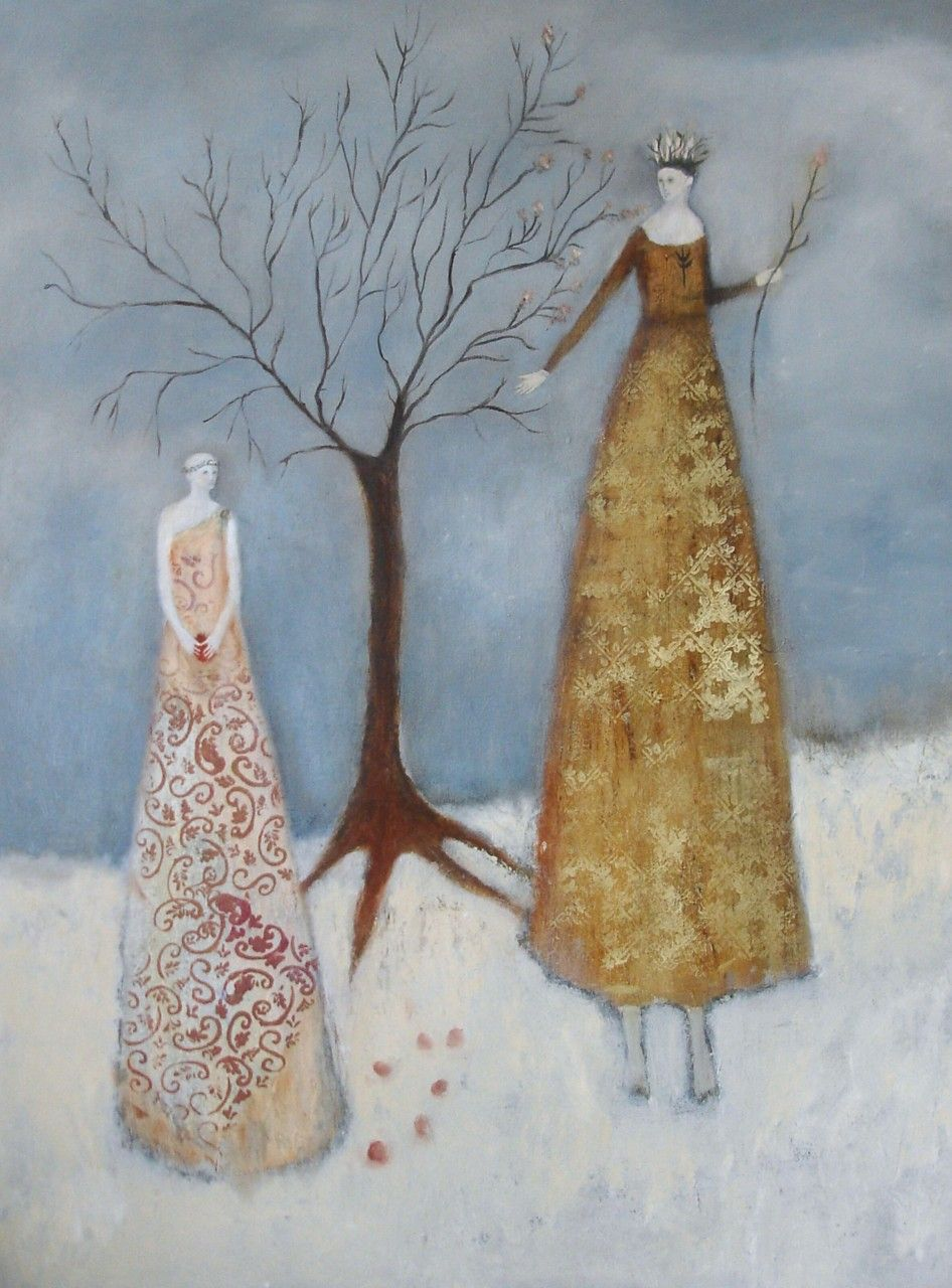 "Six Seeds by Jeanie Tomanek Oil painting, 48"" x 36"""