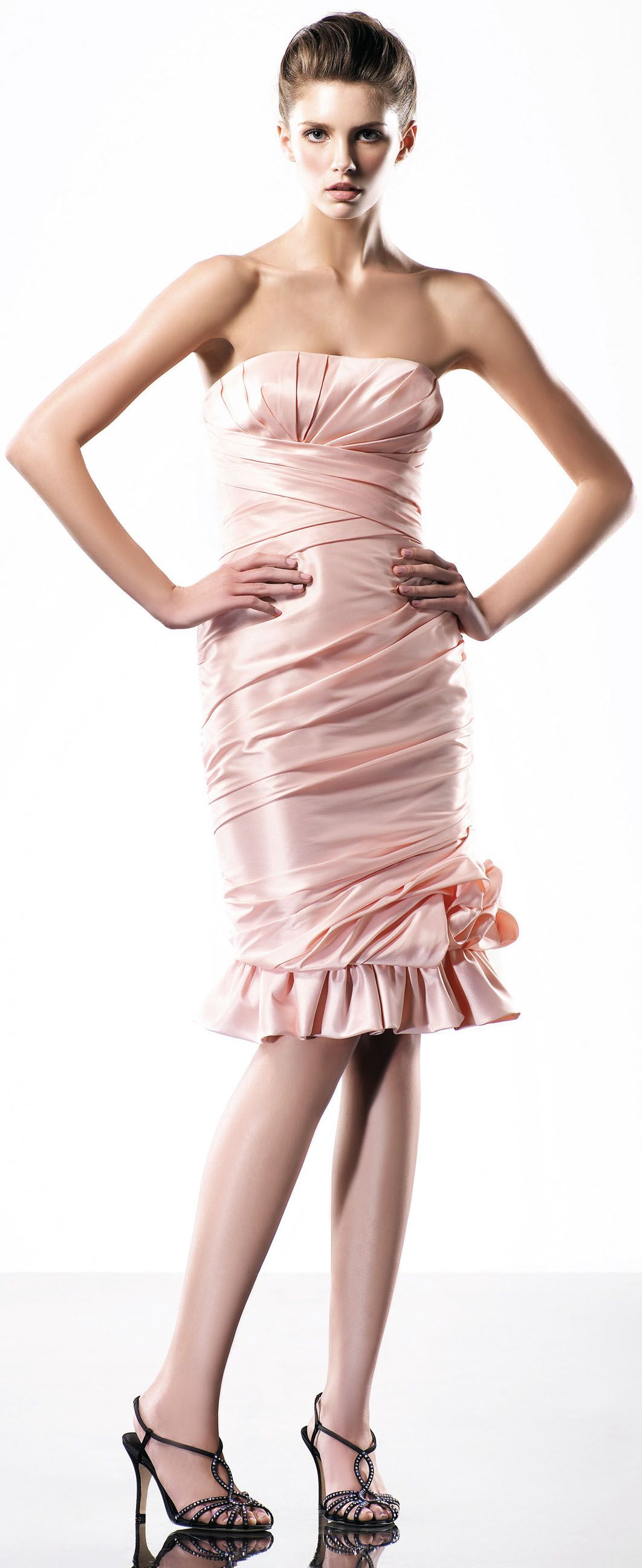 Strapless trumpet style knee-length dress | For the Home | Pinterest ...
