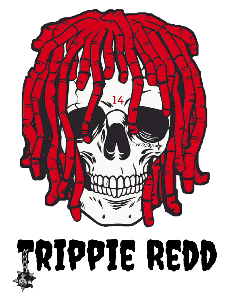 Trippie Redd Rapper Skeleton Mini Art Print By Califerclothing Without Stand 3 X 4 Trippie Redd Art Mini Art
