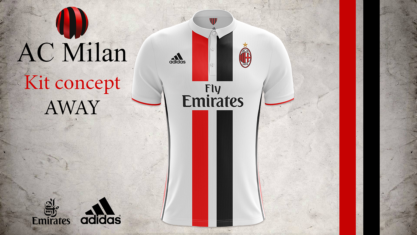 AC Milan kit concept Away 2017 2018 on Behance  48b4521bff476