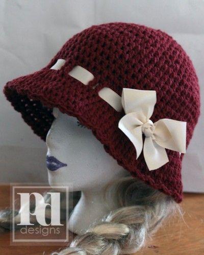 dc8023f2a0ec4f Petal Brimmed Cloche Crochet Pattern | **!!! #11~CROCHET | Crochet ...