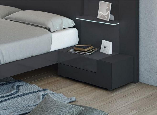2 Drawer Garcia Sabate Tesis Bedside Cabinet in Various Colours
