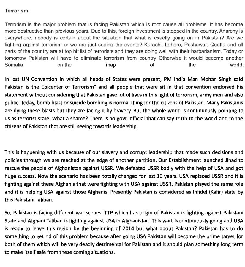 Pakistan War Against Terrorism Essay For Kids - image 7