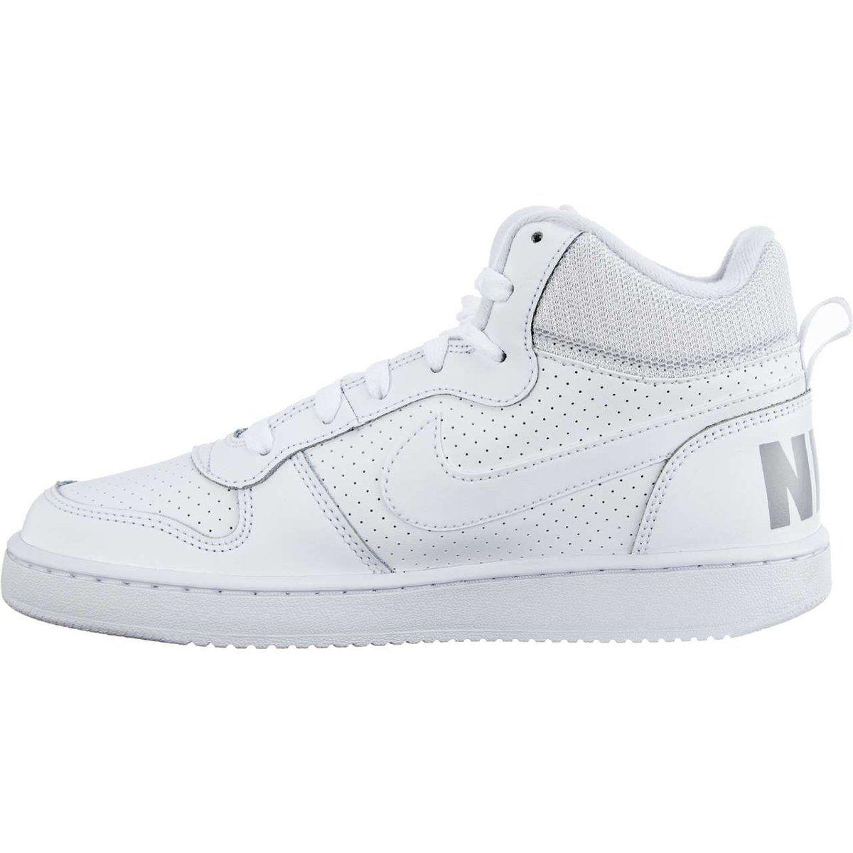 Sportowe Damskie Nike Nike Biale Court Borough Mid 100 White White White White Nikes Nike Sneakers Nike
