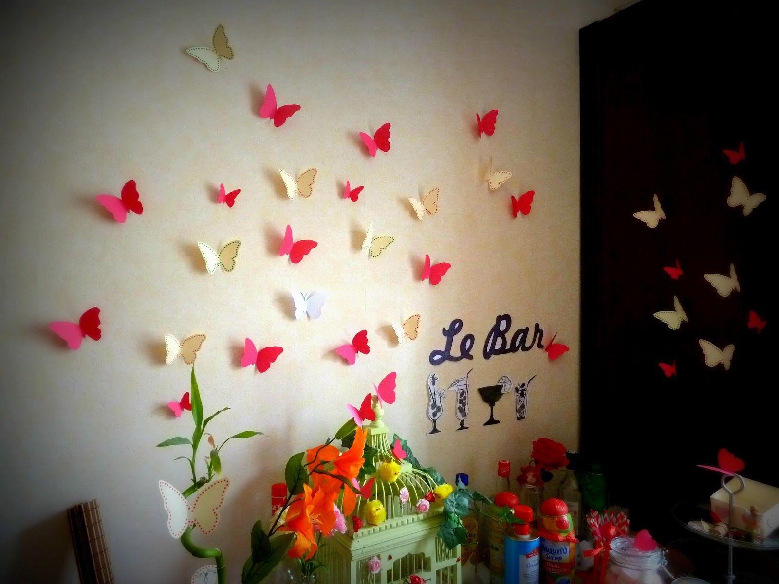 Papillons muraux déco Pinterest