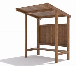 Raised floor wooden woodshed?