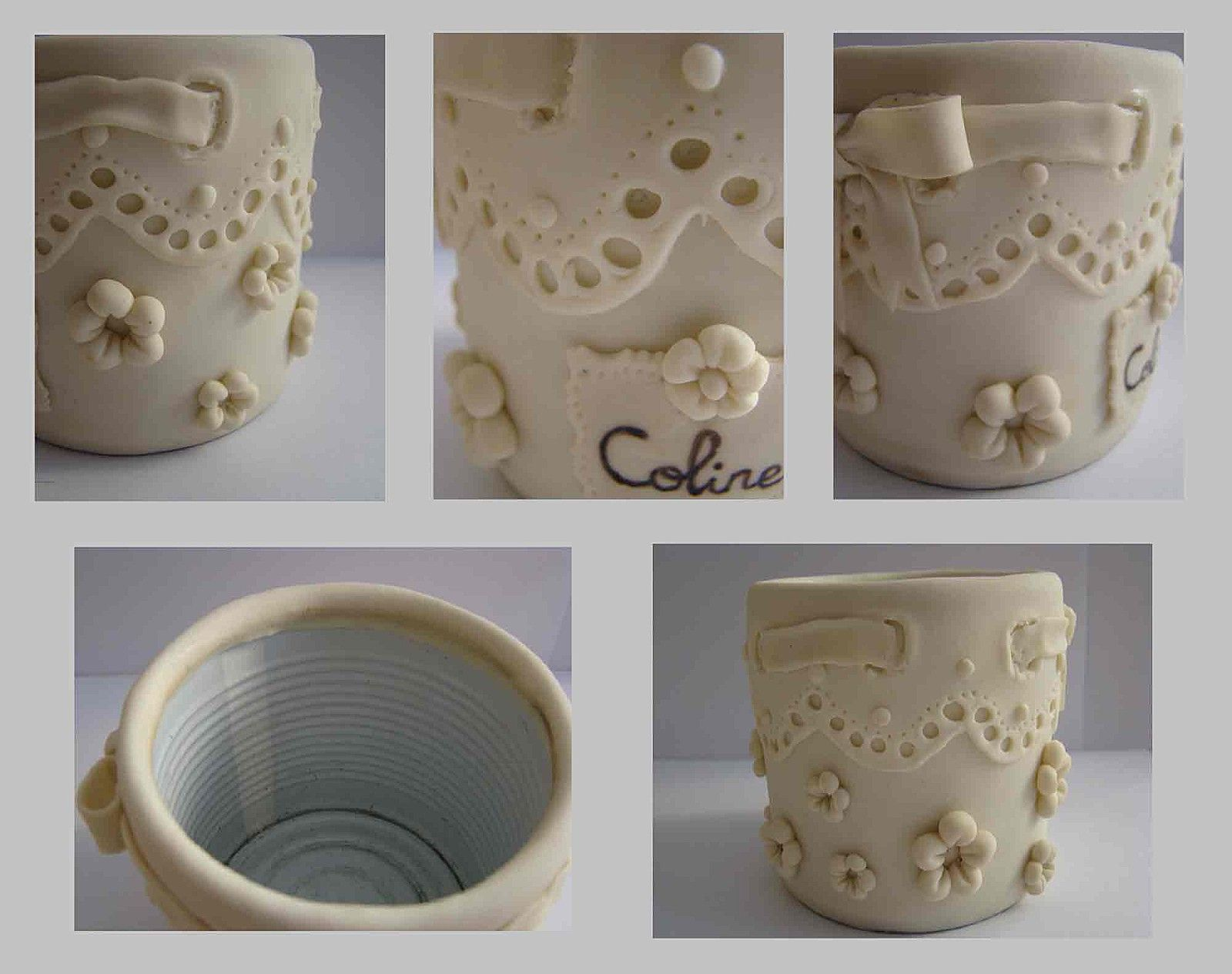 pot a crayons en porcelaine froide fimo pinterest With chambre bébé design avec moule silicone pot de fleur