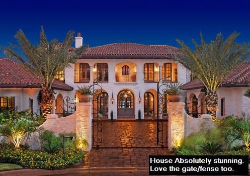 Front Elevation Gate Fence Med8 Hacienda Style Homes Spanish