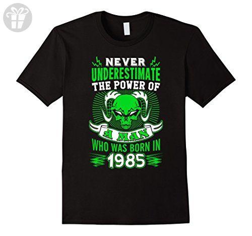 Mens Born In 1985 T-Shirt. 32nd Birthday Ideas for Men. Best Gift XL Black - Birthday shirts (*Amazon Partner-Link)