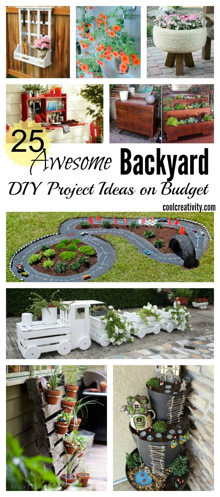Outdoor Craft Ideas Gardens Part - 30: 25 Awesome Backyard DIY Project Ideas On Budget