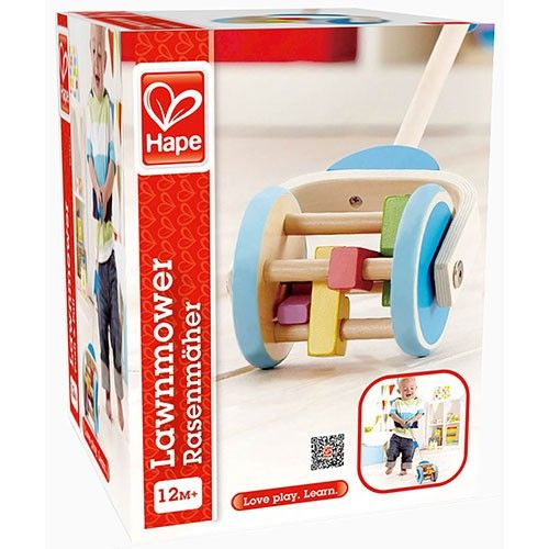 Hape: Lawnmower Wooden Toy | ToyZoo.com