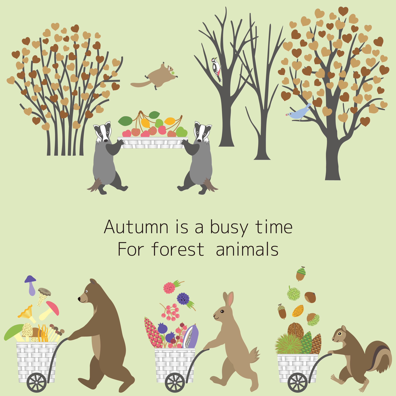 実りの秋 森の動物たちは大忙し Fair Weather様 第4回 Merlot