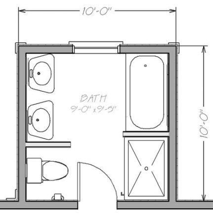 Bathroom Layout 5x10 44 Ideas #bathroom | Small bathroom ...