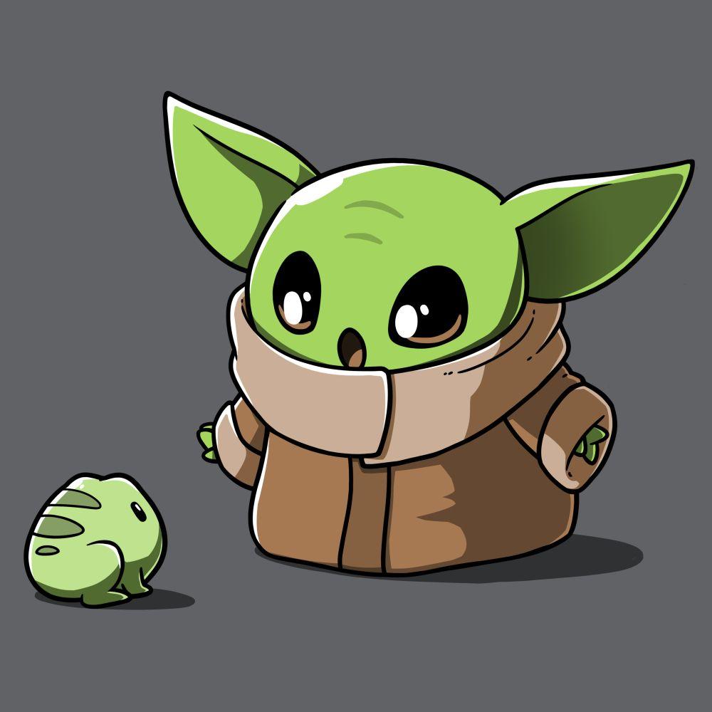 Snack Time Star Wars Drawings Cute Cartoon Wallpapers Yoda Wallpaper
